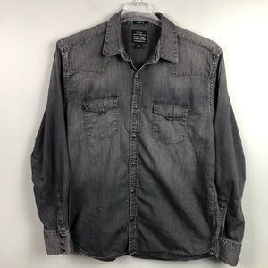 Lucky Brand Black Label Western Snap Button Down
